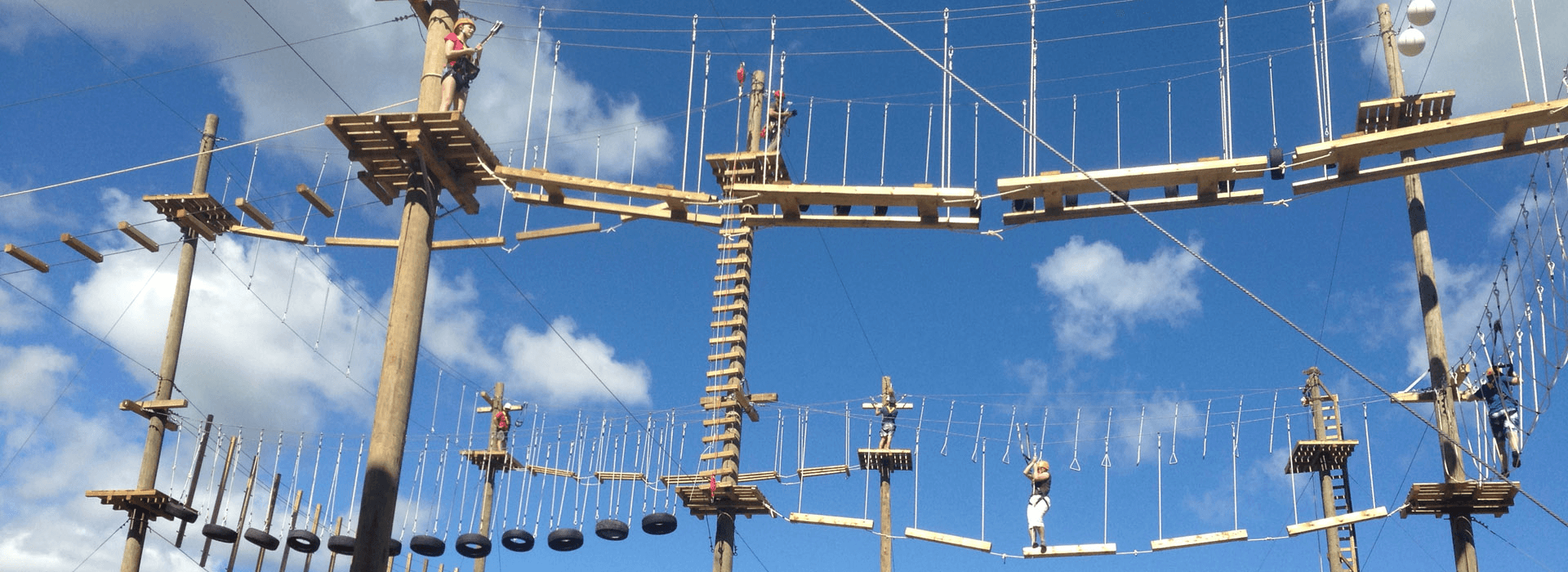 high ropes course header