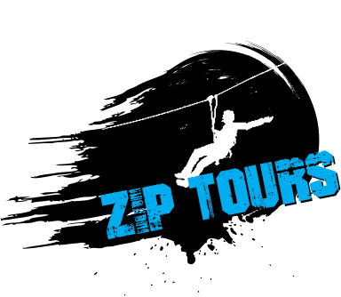 zip lining winter logo