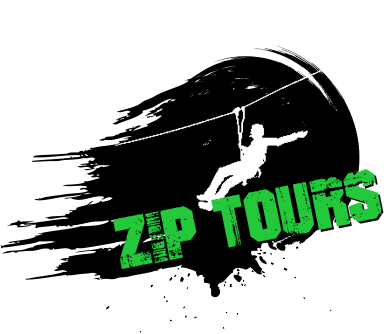 zip lining summer logo