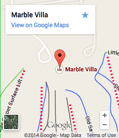 Zip Lining Marble Mountain Location Map